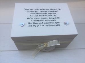 Shabby Personalised Chic Gift Will You Be My Bridesmaid? Maid Matron Of Honour - 252733362911